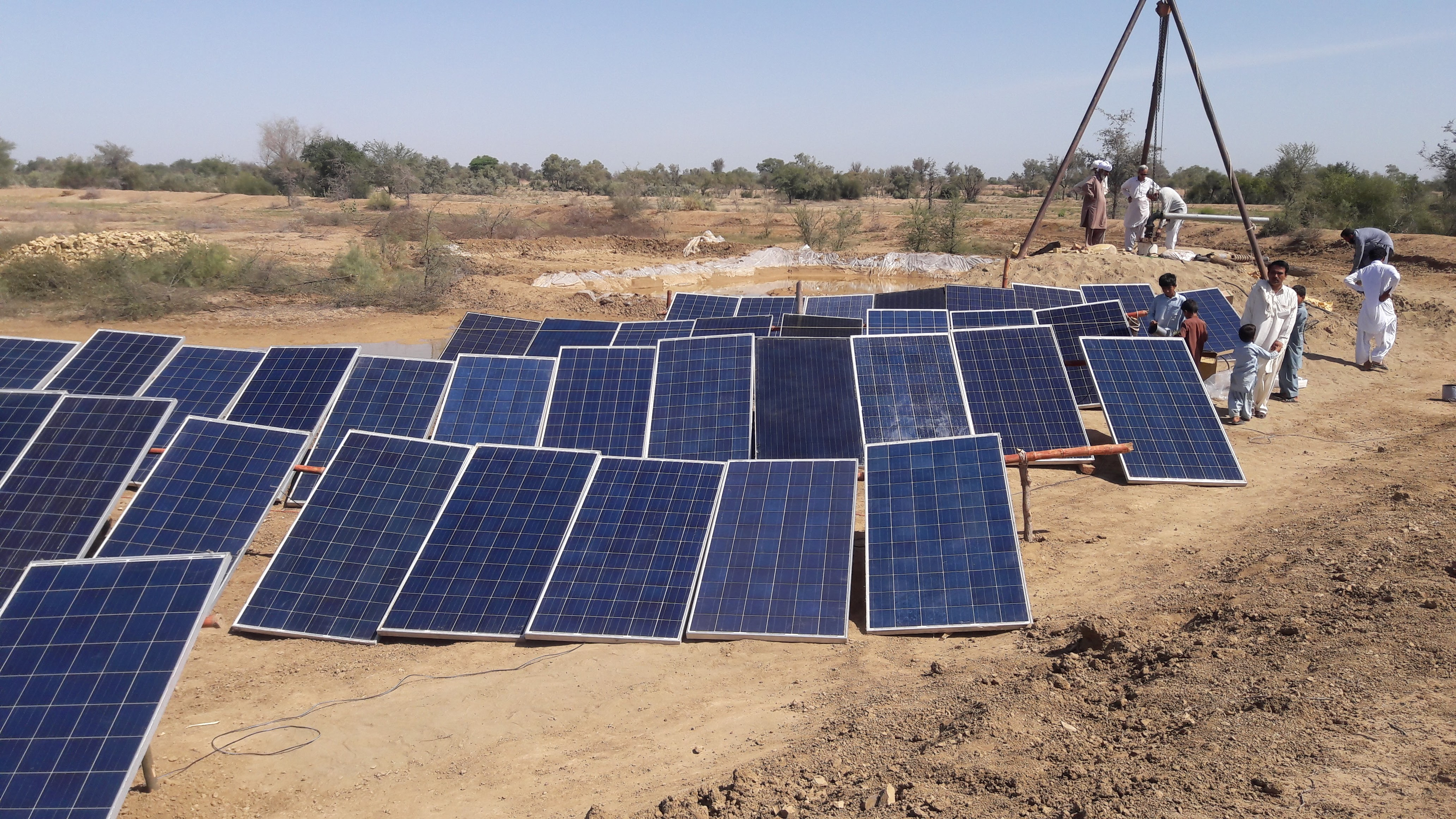 Demo Project Before final Installation of Solar Irrigation System at DG Khan